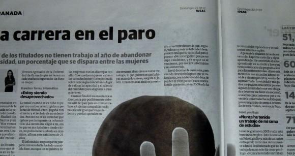 Mi sección en el artículo de Cristina Ridao / Pulsa encima y la ves grandota